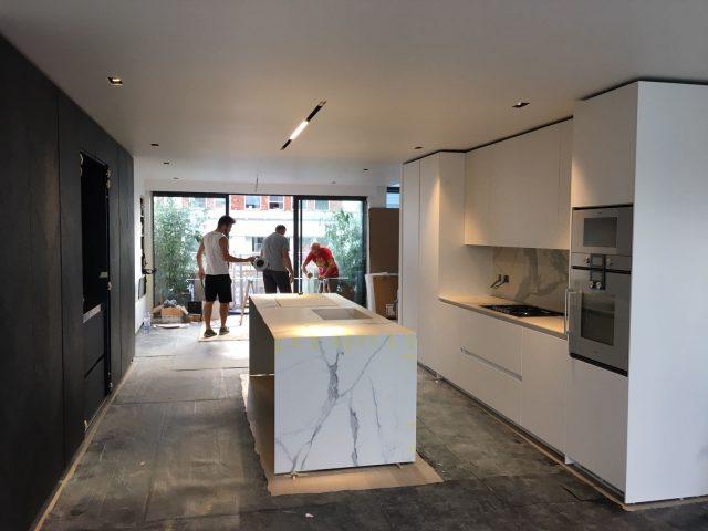 binova milano - mounting kitchena bluna with door mantis 120 mm